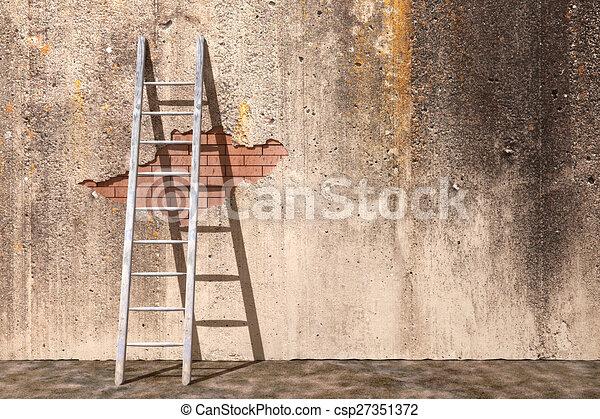 Escalera 3D - csp27351372