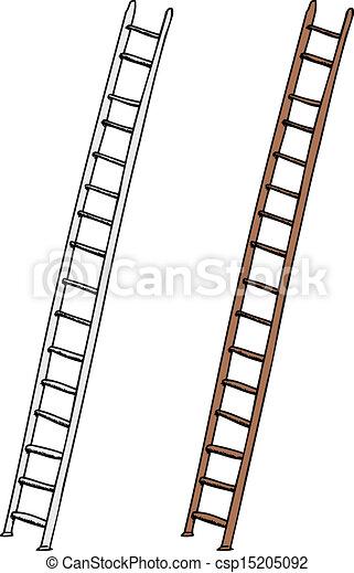 Una escalera aislada - csp15205092