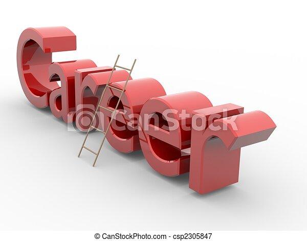 Escalera de carrera - csp2305847