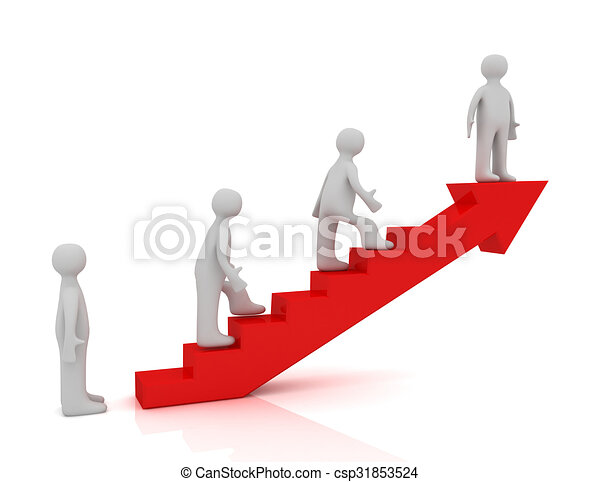 3d escalera al concepto de éxito - csp31853524