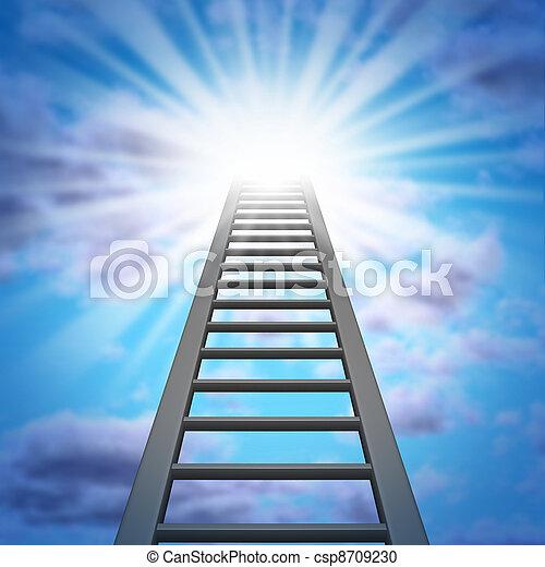 Escalera corporativa - csp8709230