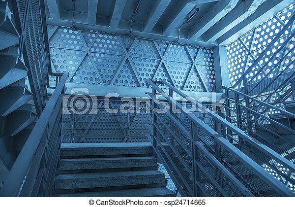 Escaleras de metal - csp24714665