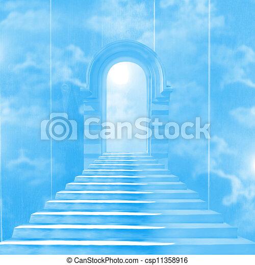 La escalera al cielo que lleva a Dios - csp11358916