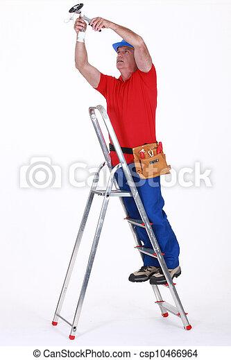 Escalera electricista imagen de archivo buscar fotos y for Escalera de electricista