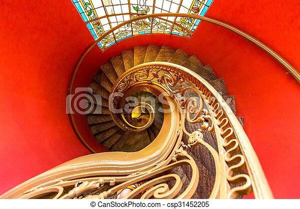 Escaleras espirales - csp31452205