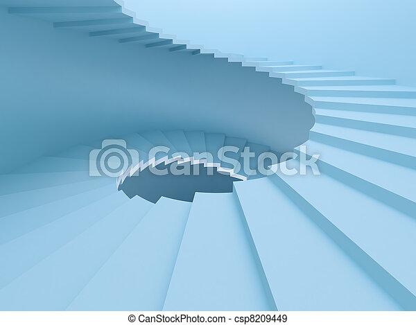 Escaleras espirales - csp8209449