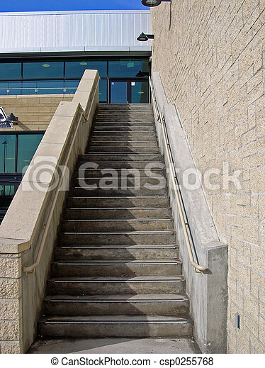 Escalera exterior escalera edificio exterior concreto - Escaleras de exterior ...