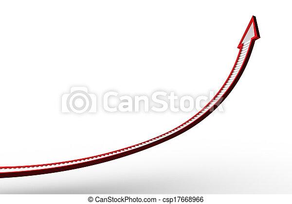 Flecha de la escalera roja - csp17668966