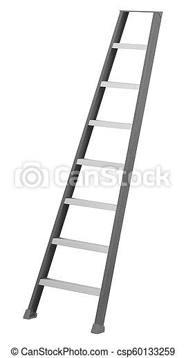 Escalera aislada en el fondo blanco - csp60133259