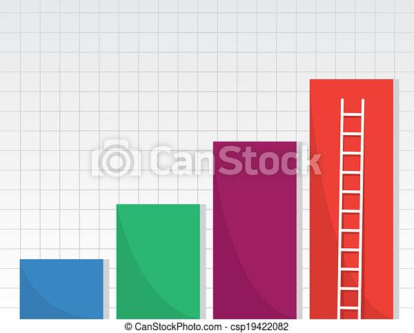 La escalera de barras - csp19422082