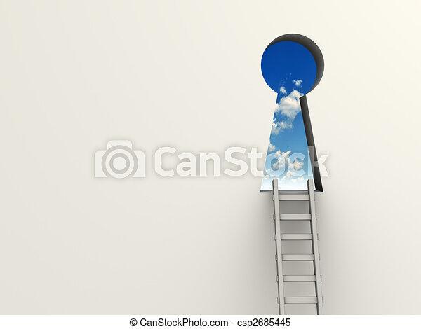 Llavero y escalera - csp2685445