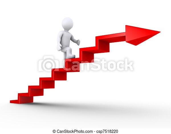 Subiendo escaleras de éxito - csp7518220
