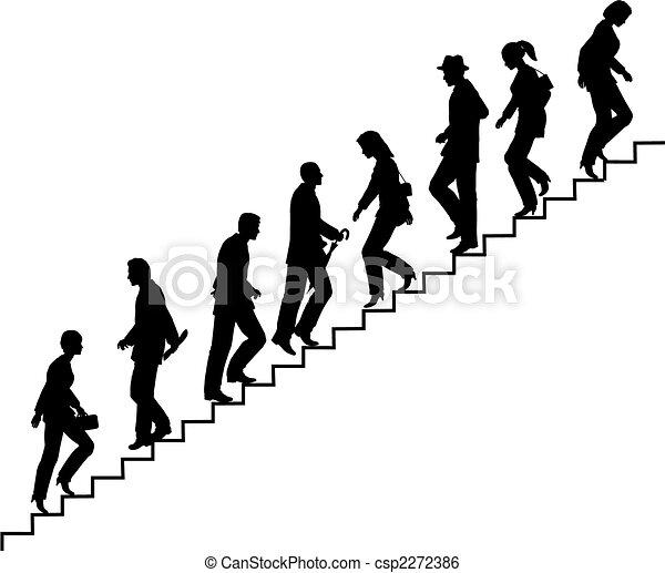 Caminantes de escaleras - csp2272386