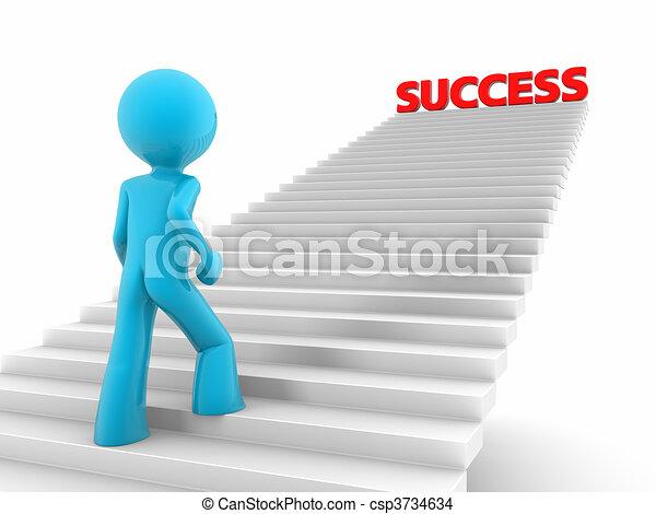 Escaleras al éxito - csp3734634