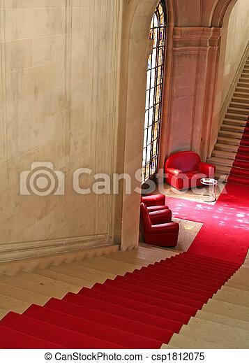 escaleras, alfombra roja - csp1812075