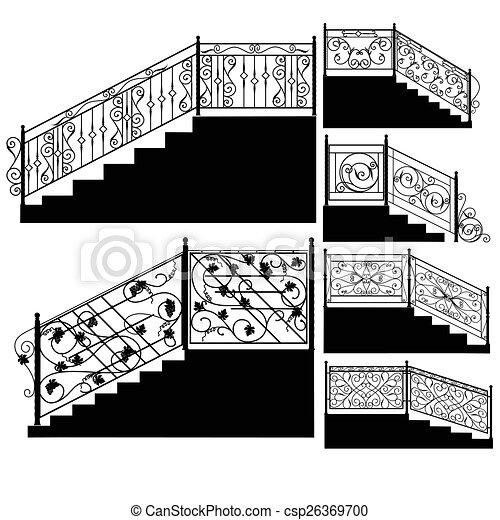 Escaleras hierro forjado barandilla hierro escaleras - Escaleras de hierro forjado ...
