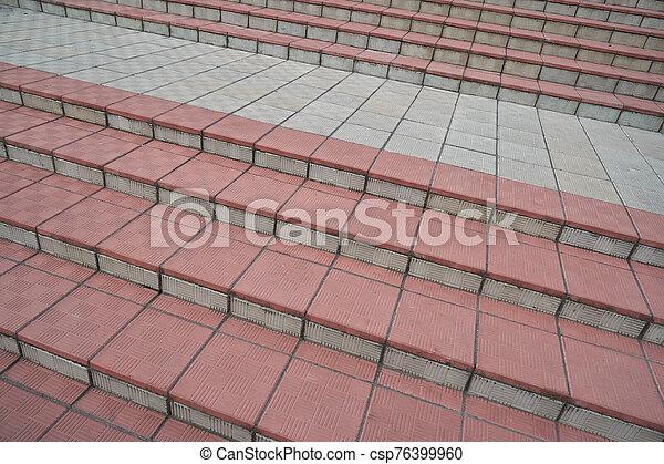 escalier, étapes, résumé, ville, escalier - csp76399960