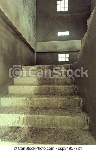 Escalier, Béton, Ciment, Structure
