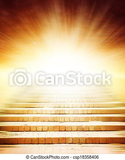 escalier, ciel - csp18358406