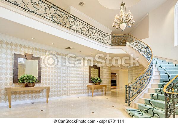 escalier couloir riche maison escalier couloir luxe maison. Black Bedroom Furniture Sets. Home Design Ideas