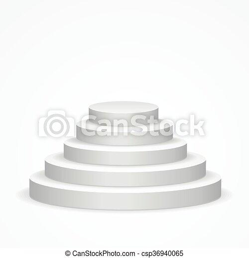 escalier, podium., vecteur - csp36940065
