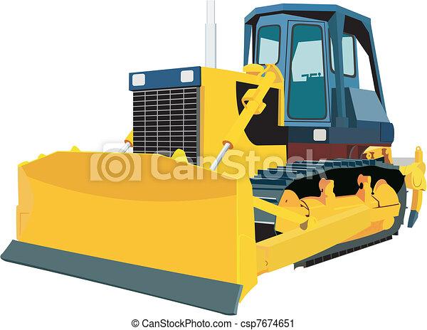 escavadora - csp7674651