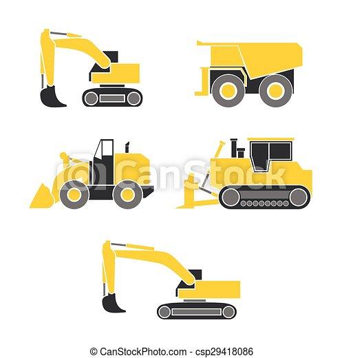 escavadora, escavador, trator - csp29418086