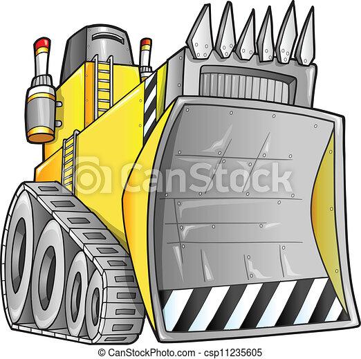 escavadora, vetorial, apocalíptico - csp11235605