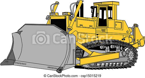 escavadora, vetorial - csp15015219