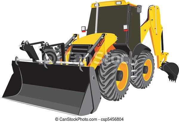 escavadora, vetorial, earth-moving - csp5456804