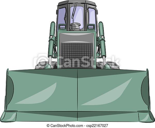 escavadora, vetorial - csp22167027
