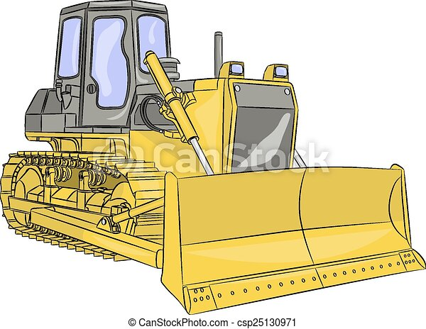 escavadora, vetorial - csp25130971