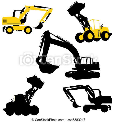 escavadoras, escavadores - csp6883247