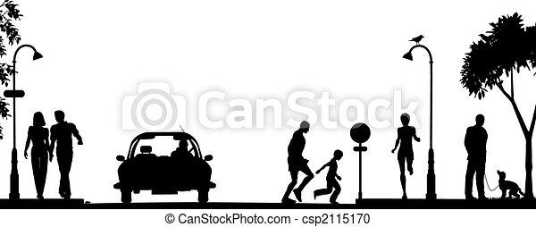La escena de la calle - csp2115170