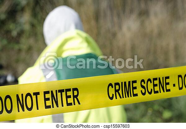 Escena del crimen - csp15597603