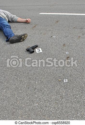 La escena del crimen - csp6558920