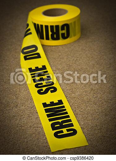 Escena del crimen - csp9386420