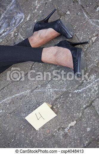 La escena del crimen - csp4048413