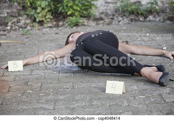La escena del crimen - csp4048414