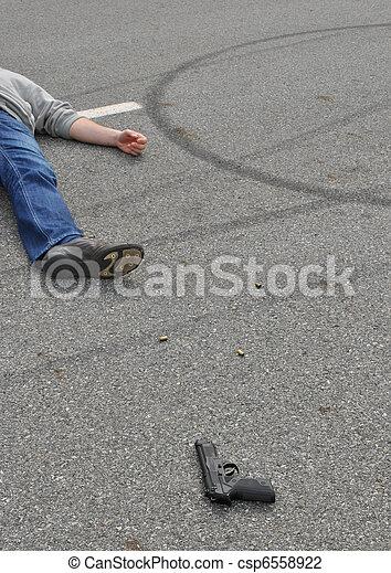 La escena del crimen - csp6558922