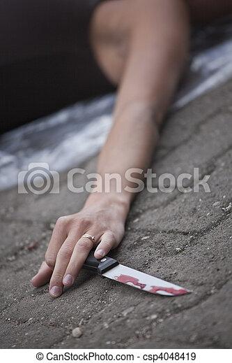 La escena del crimen - csp4048419
