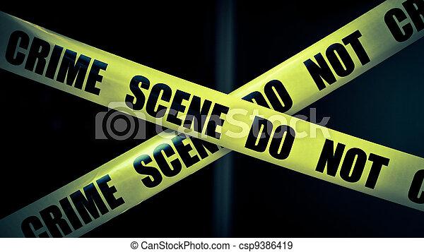 La escena del crimen - csp9386419