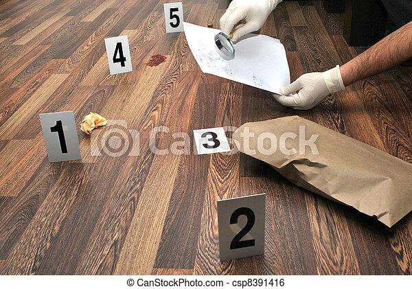 La escena del crimen - csp8391416