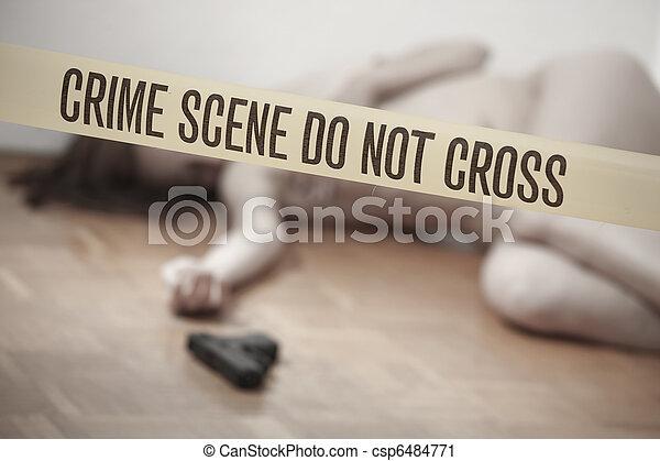 La escena del crimen - csp6484771