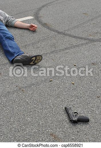 La escena del crimen - csp6558921