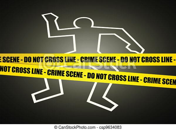 La escena del crimen - csp9634083