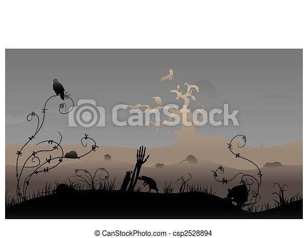 La escena de Halloween - csp2528894