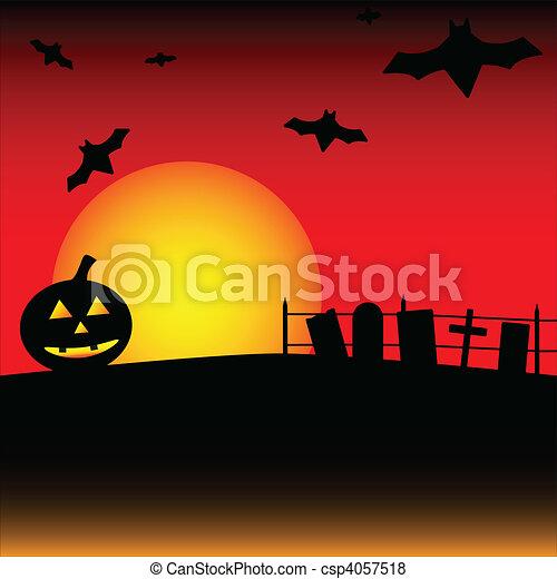 La escena de Halloween - csp4057518