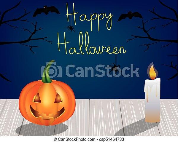 La escena de Halloween - csp51464733