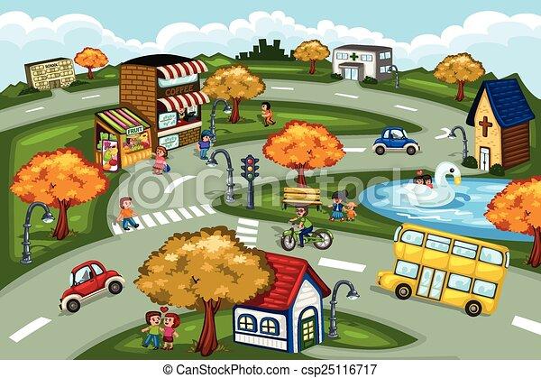 La escena de la ciudad - csp25116717